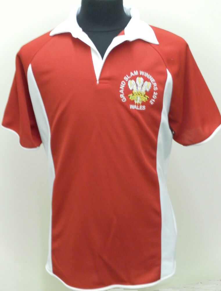 Wales Welsh Grand Slam 2012 Winners Rugby Style Shirt 6