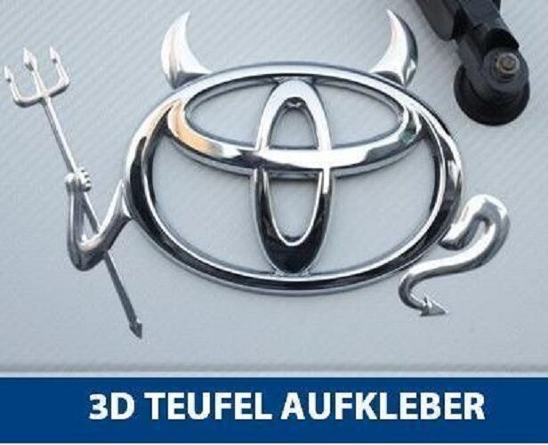 auto aufkleber 3d teufel devil emblem neu vw bmw audi toyota hyundai peugeot ebay. Black Bedroom Furniture Sets. Home Design Ideas