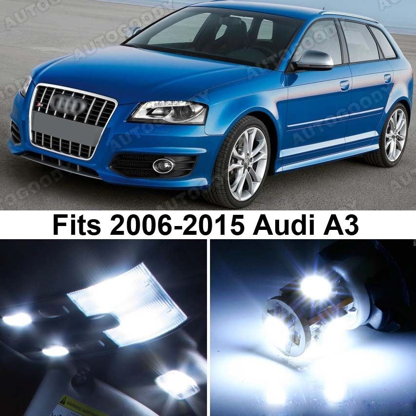 14 X Premium Xenon White Led Lights Interior Package Upgrade For Audi A3 Ebay