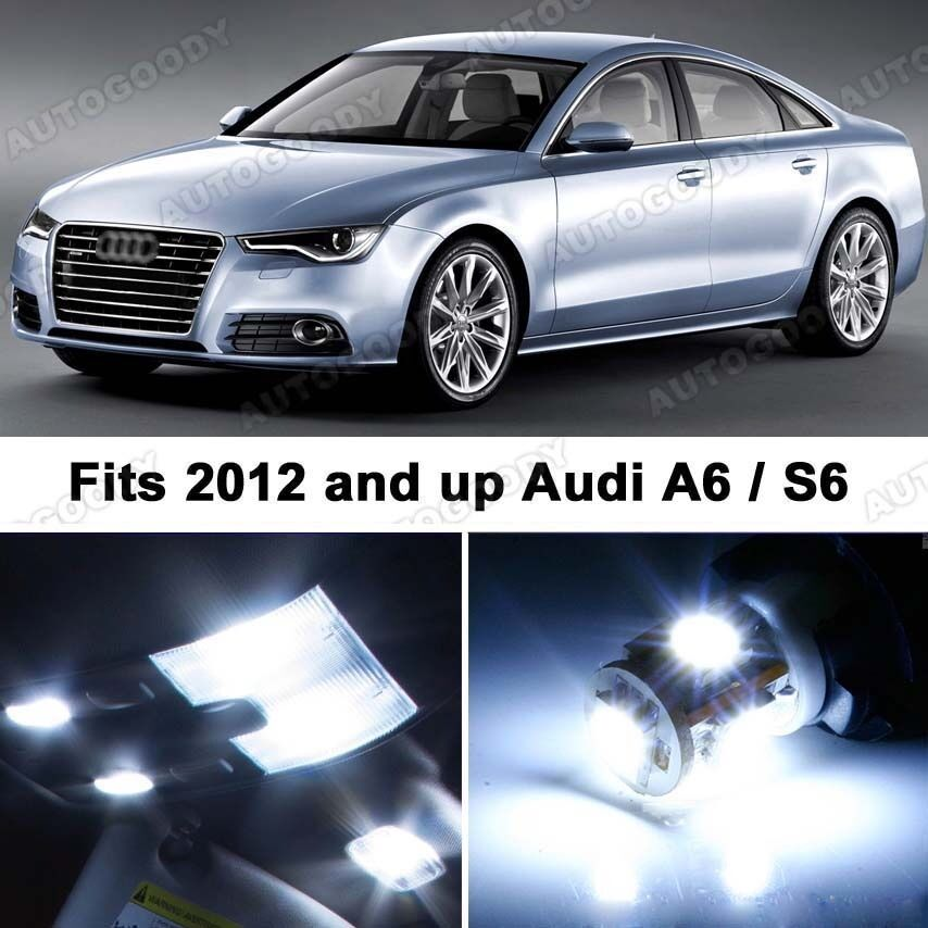 9 X Premium Xenon White Led Lights Interior Package Upgrade For Audi A6 Ebay