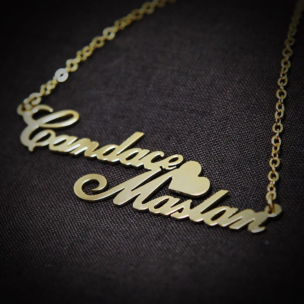 Personalized Jewelry Double Love Couples Name Necklace ...