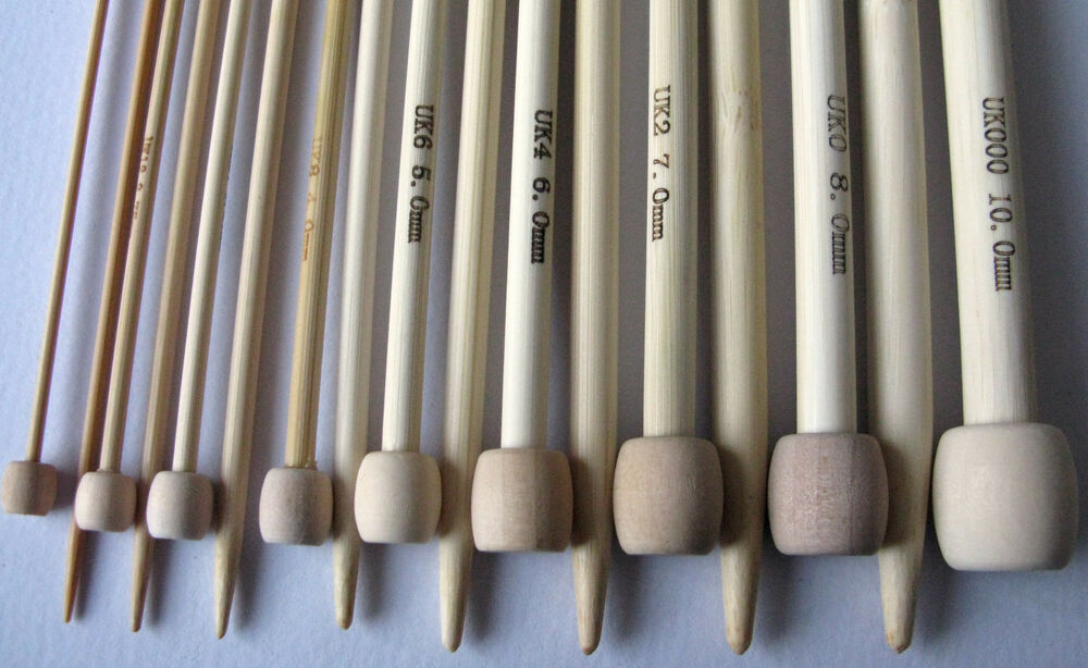 Extra Long Knitting Needles Uk : Bamboo single pointed knitting needles sp cm
