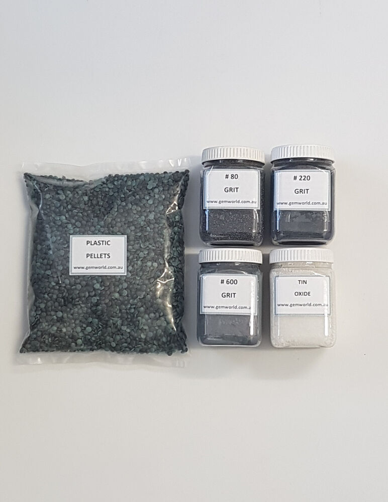 tumbling grit kit rock tumbler polish abrasive lapidary pack value australia ebay. Black Bedroom Furniture Sets. Home Design Ideas