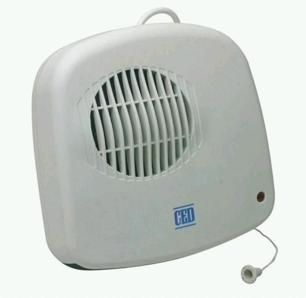 Bathroom Downflow Fan Heater Down Flow 2400w Pull Cord Wall Mounted Ebay