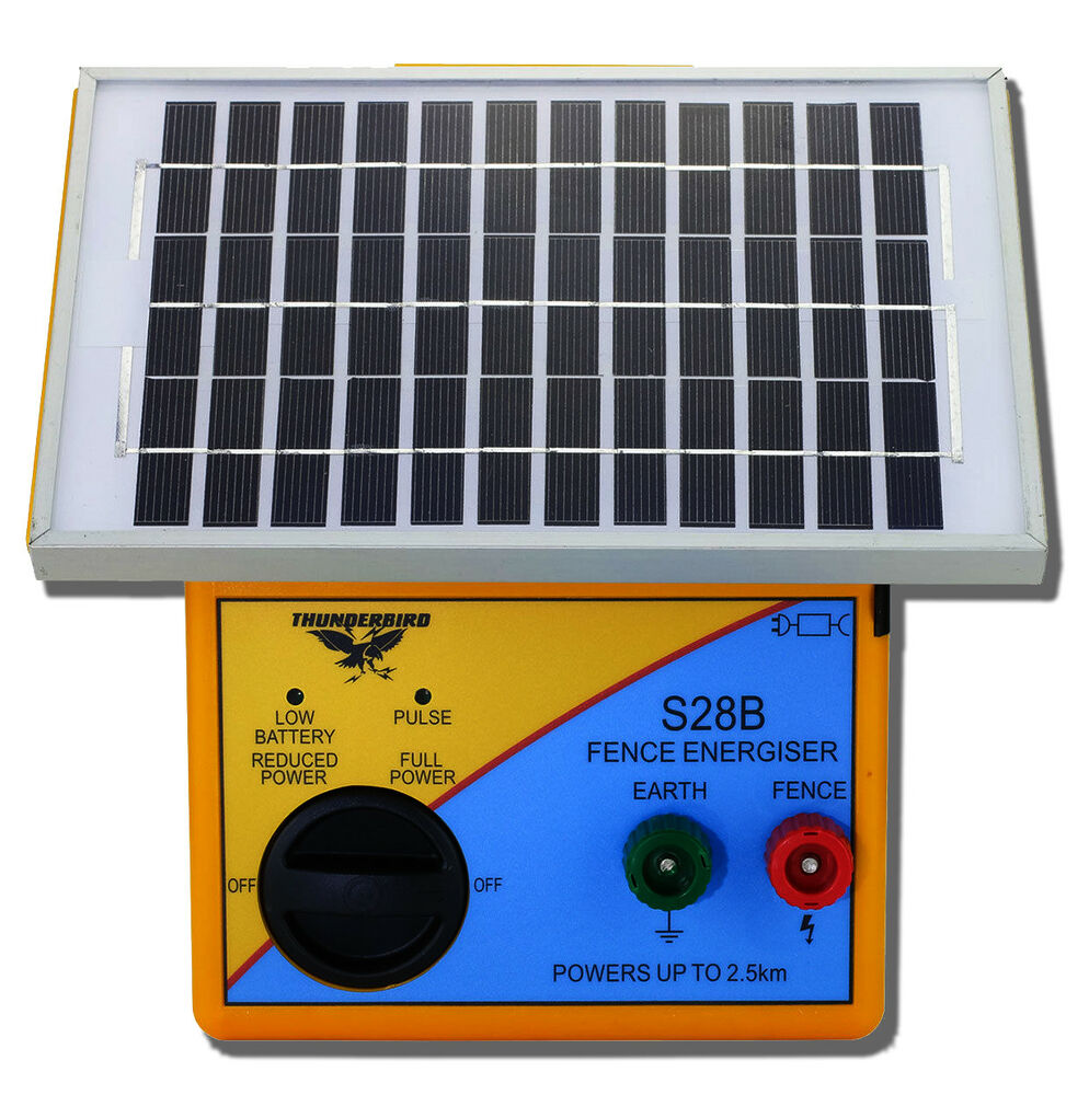 2 5km Solar Powered Electric Fence Energiser Charger