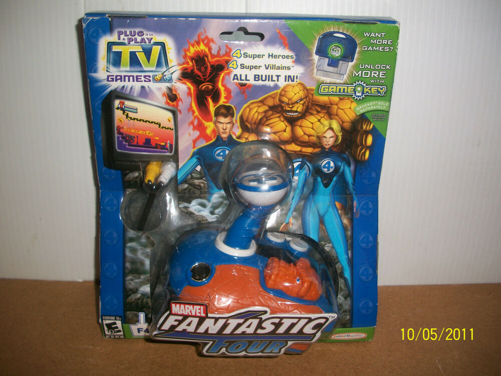 Tv Games Plug And Play : Marvel jakks pacific plug play tv games fantastic four