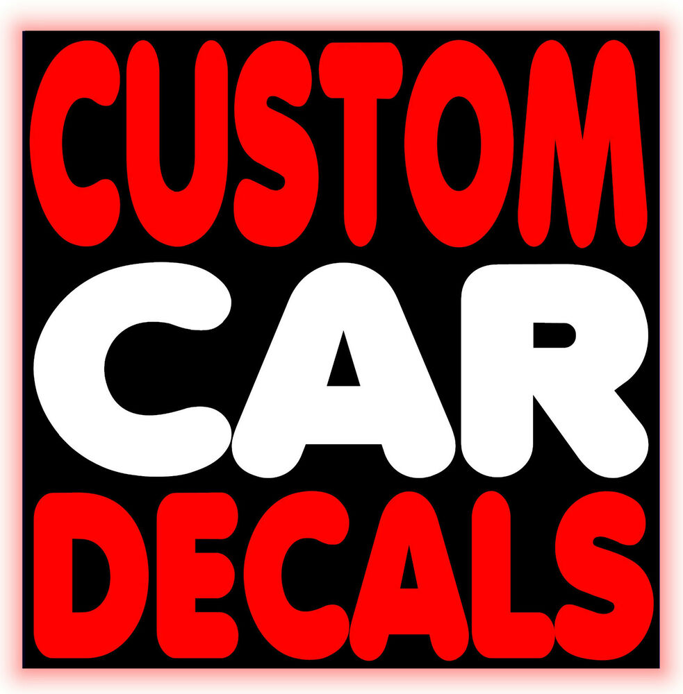personalised custom car decals vinyl lettering stickers. Black Bedroom Furniture Sets. Home Design Ideas