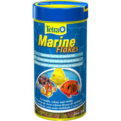 Tetra marine flakes 52g complete fish food reef ebay for Saltwater fish food