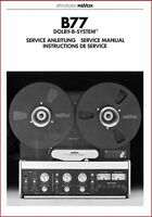 Revox  A77 + B77 Operation + Service manuals / Data  Reel to Reel Tape CD-ROM