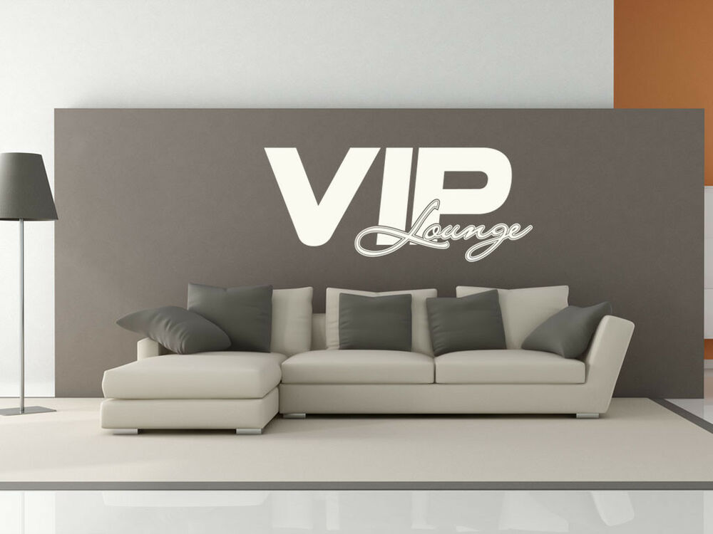 s306 xxl wandtattoo vip lounge wandaufkleber wohnzimmer couch bett ebay. Black Bedroom Furniture Sets. Home Design Ideas
