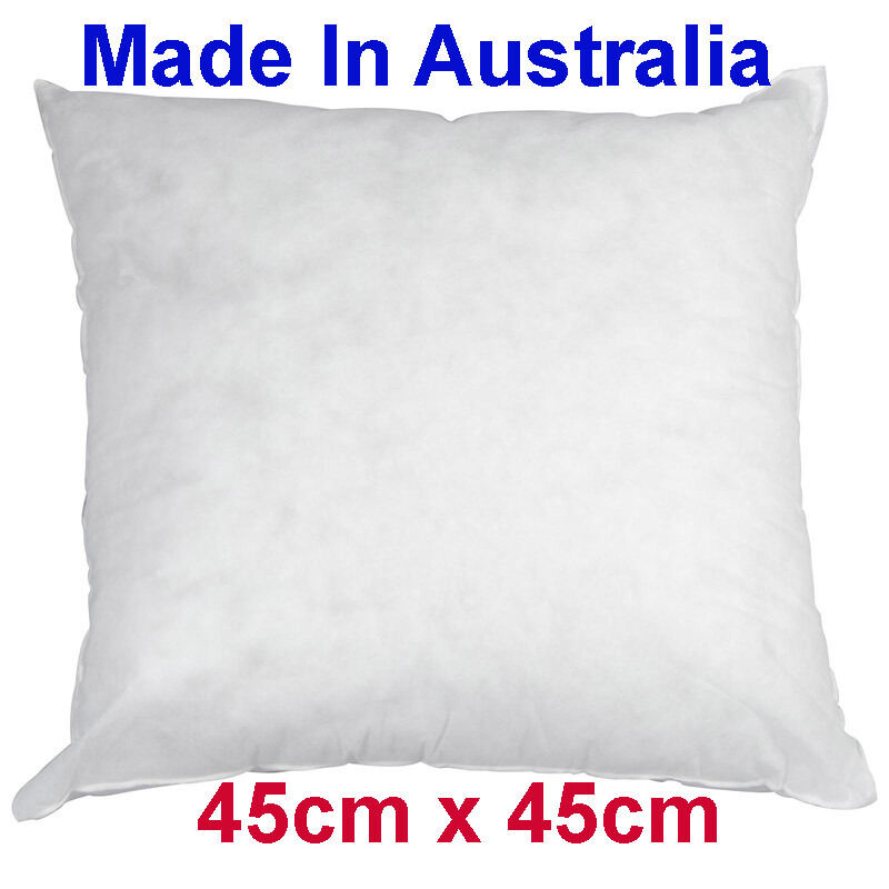 Made In Australia Cushion Pillow Insert Polyester 45cm X