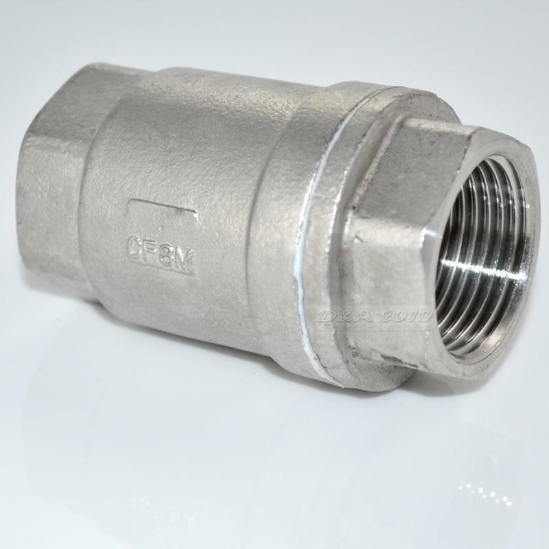 Quot stainless steel check valve wog spring loaded in