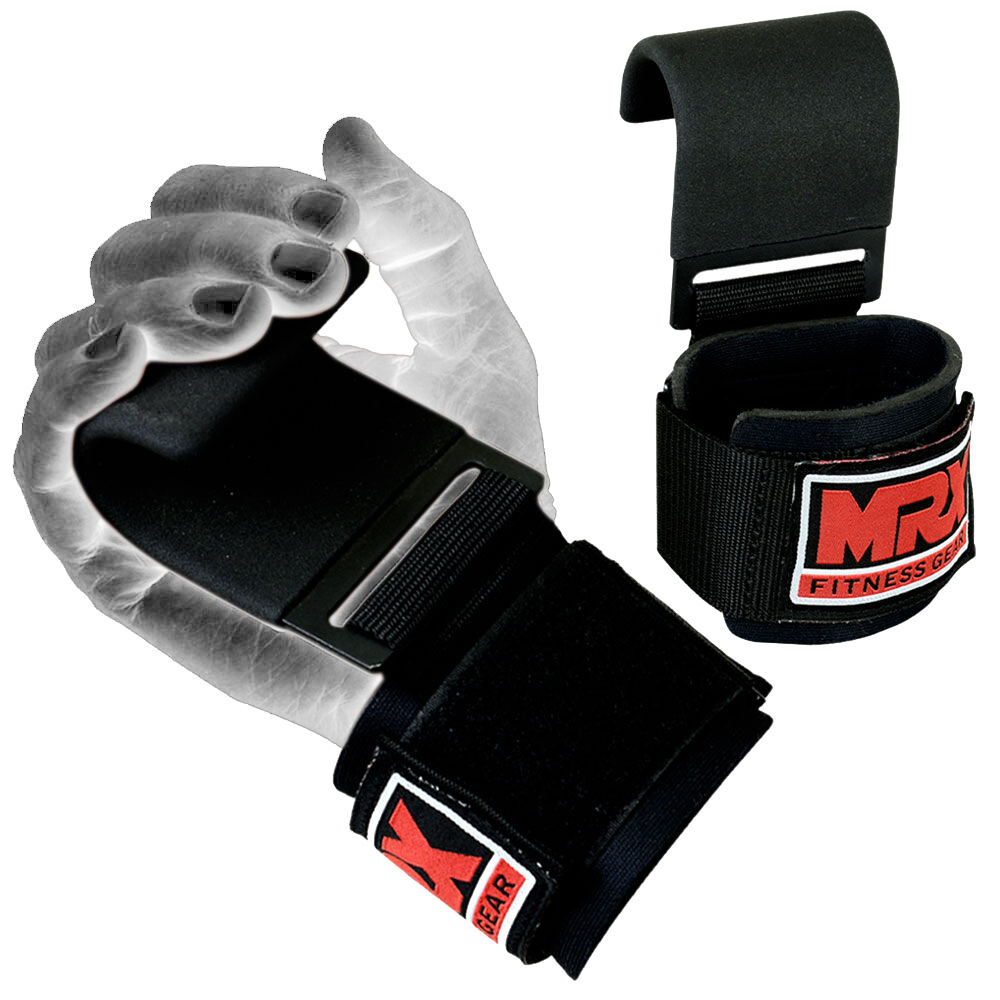 Weight Lifting Wrist Wraps Bandage Support Gloves Gym: MRX Power Weight Lifting Training Gym Straps Hook Bar