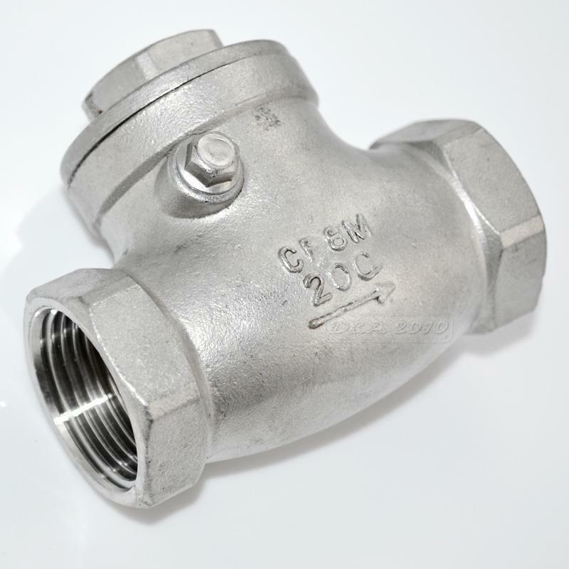New quot stainless steel swing check valve wog psi pn