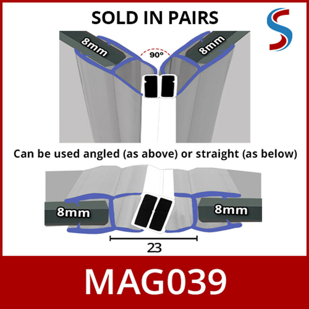 Magnetic Shower Seal Door Enclosure Sliding Quadrants