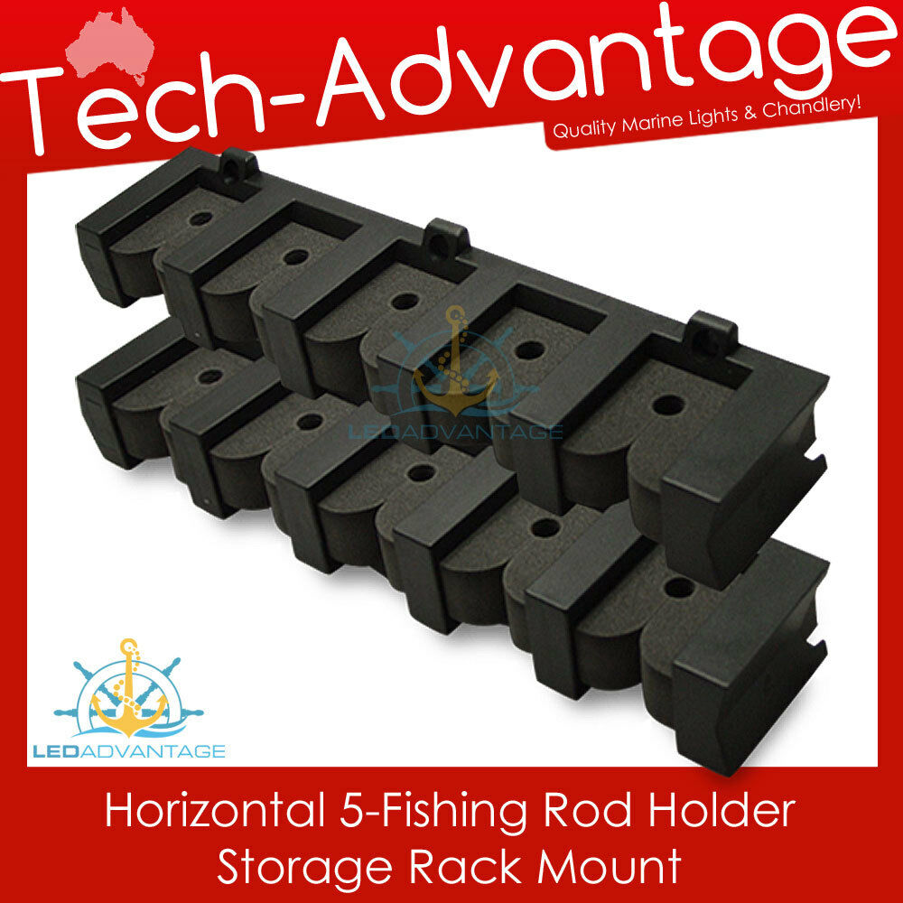 Brand new 5 rod horizontal fishing rod holder storage rack for Horizontal fishing rod rack