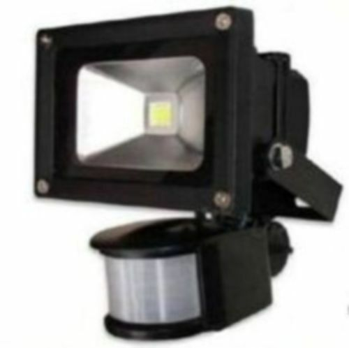 10w low energy high power black led pir flood security for Low power outdoor lights