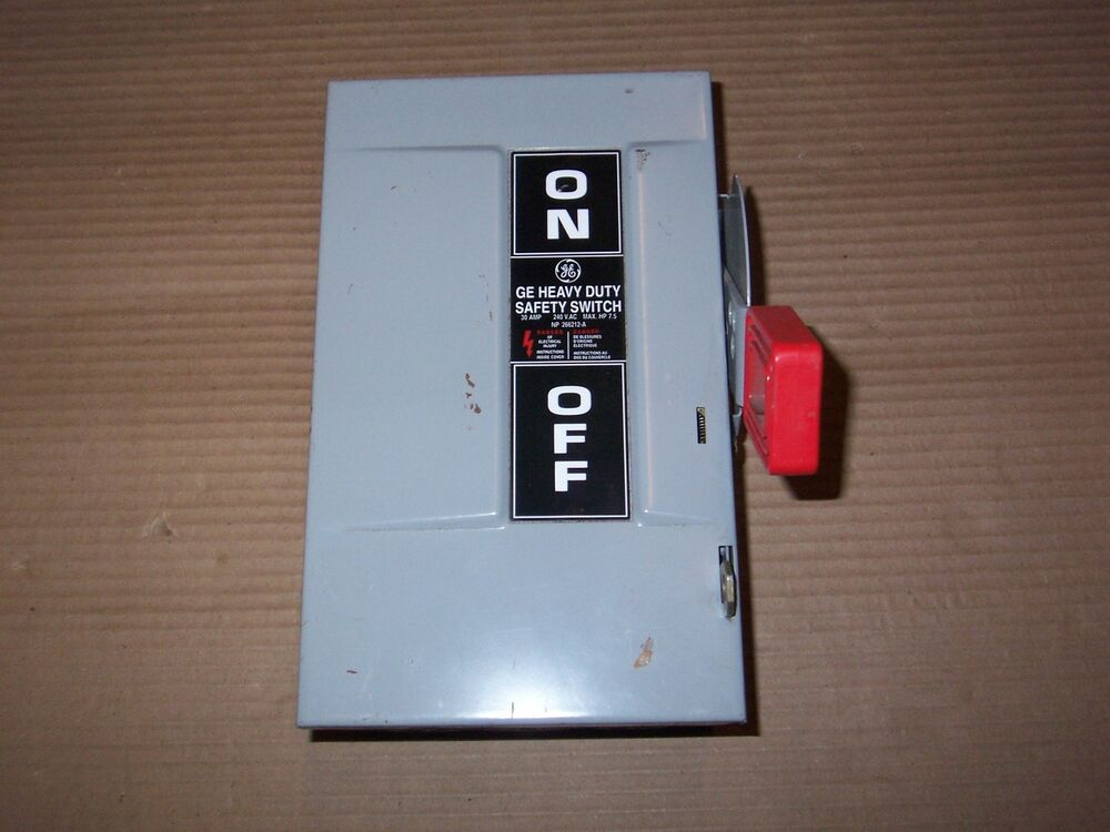 New Ge Th3221 30 Amp 240v Fusible 2 Pole Safety Disconnect