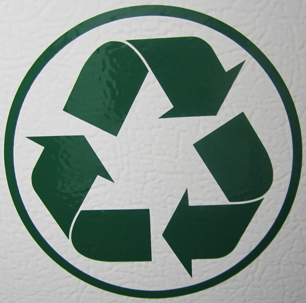 Green Recycle Vinyl Decal Sticker Heavy Duty 7 Year