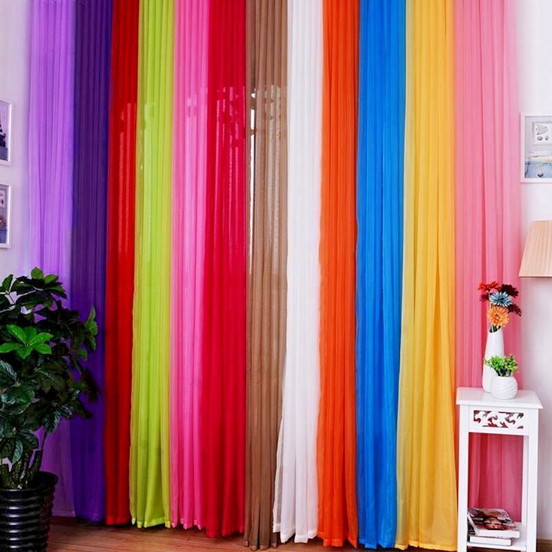 "Sheer Curtains 63 sheer curtains : 1 Pcs. Sheer Voile Window Panel curtains DRAPE 63"" ,84&#034 ..."