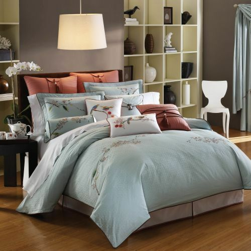 Lenox Chirp Queen Comforter Set Sheet Euro Shams Pillows