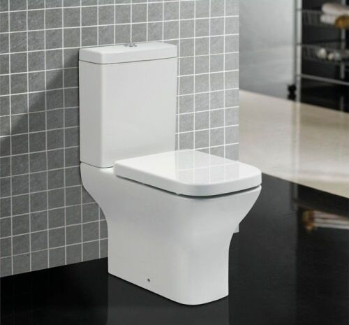 Square High Level Comfort Raised Height WC Pan Cistern Toilet Seat EBay