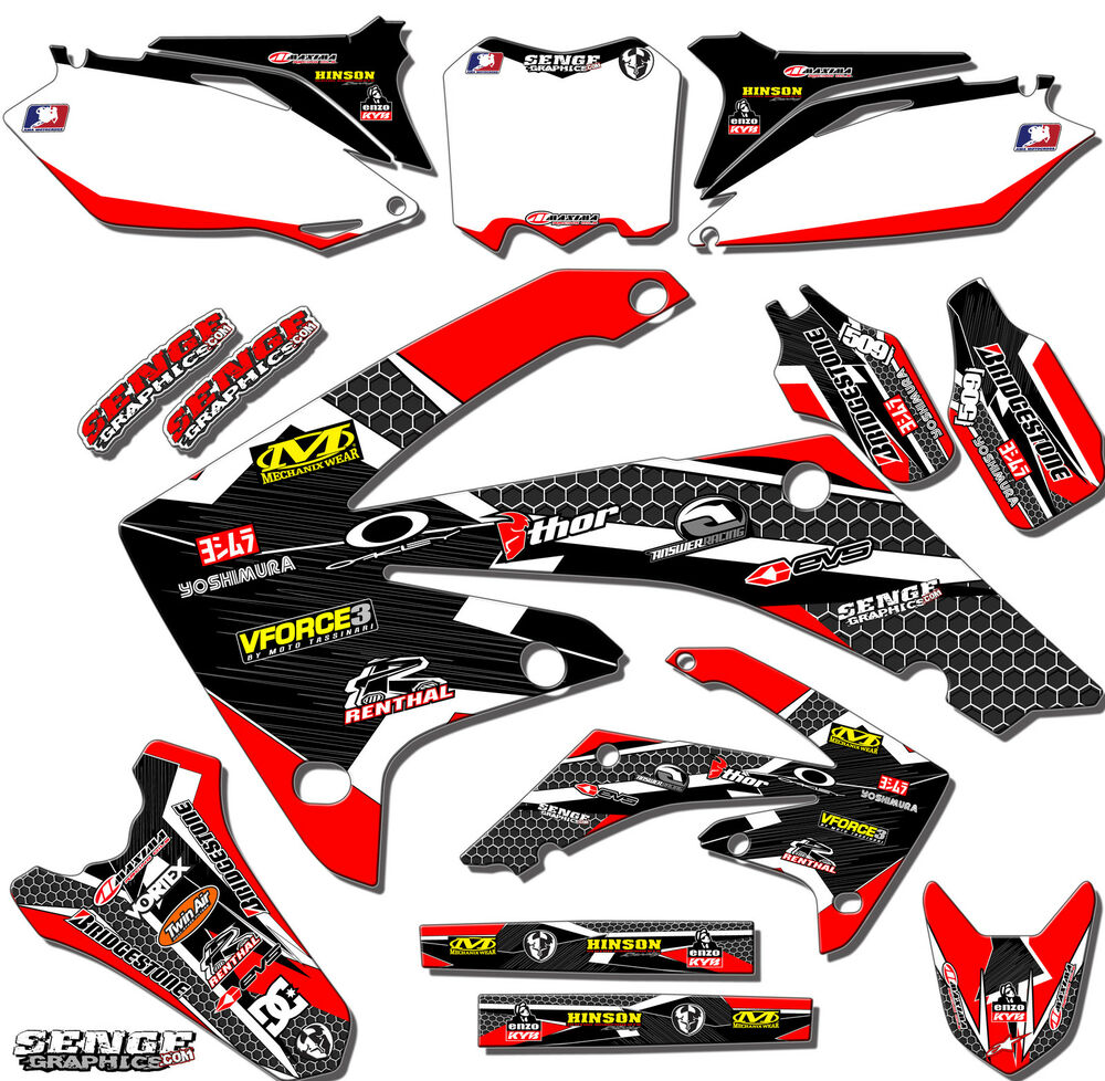 1997 1998 1999 cr 250 graphics cr250 cr250r r 250r deco for Sticker deco