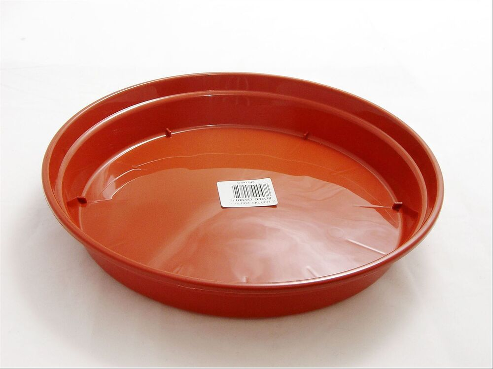 2 X 25cm 10inch 10 Strong Plastic Pot Saucer Round Base