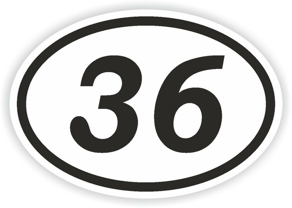 33 Thirty Three Number Oval Sticker Bumper Decal Motocross Motorcycle
