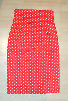 Baylis & Knight RED POLKA High Waisted PENCIL Skirt DITA Rockabilly 50's Pin Up