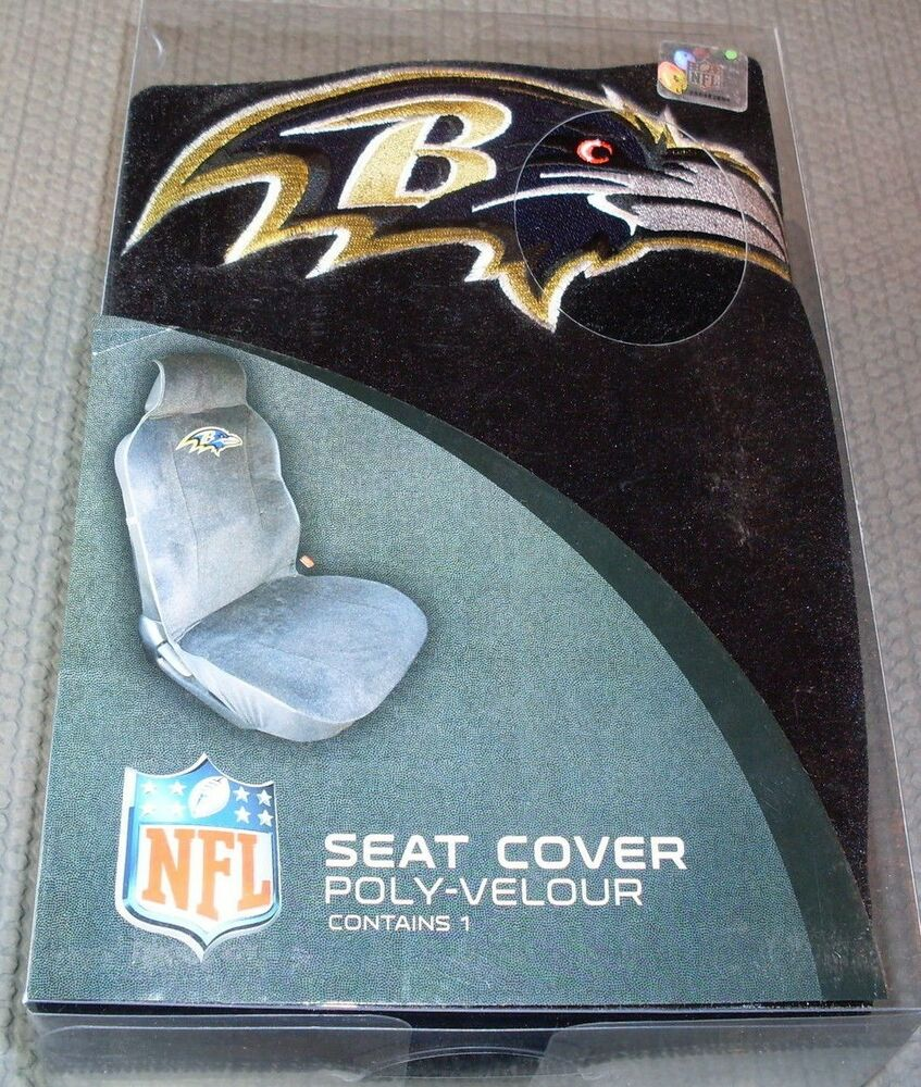 nfl nib car seat cover by fremont die baltimore ravens ebay. Black Bedroom Furniture Sets. Home Design Ideas
