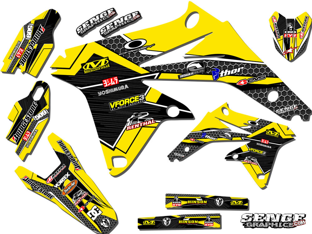 1996 1997 1998 rm 125 250 graphics kit rm125 rm250 suzuki for Stickers deco