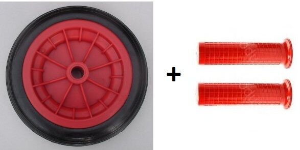 12 Quot Solid Red Replacement Wheel Wheelbarrow Pair 30mm