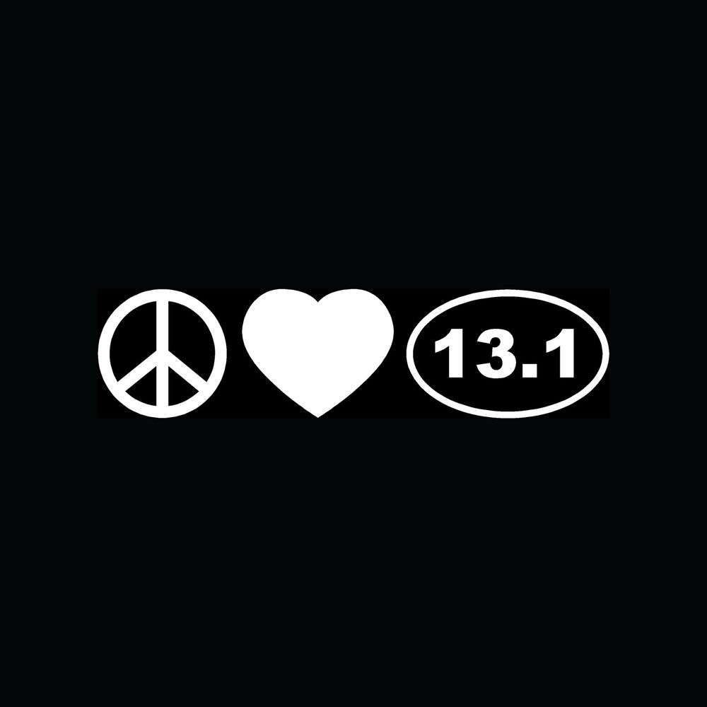 peace love 13 1 sticker car window vinyl decal marathon