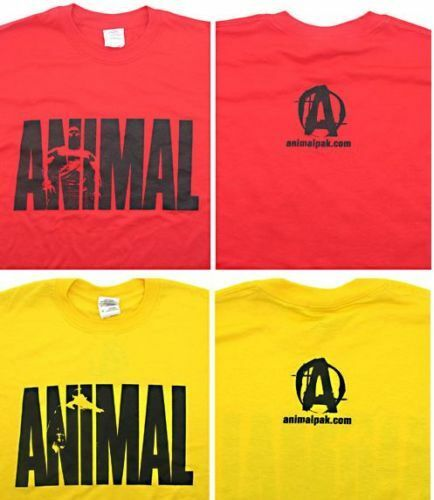 Universal nutrition animal pak tee shirt bodybuilding t for Animal tee shirts online