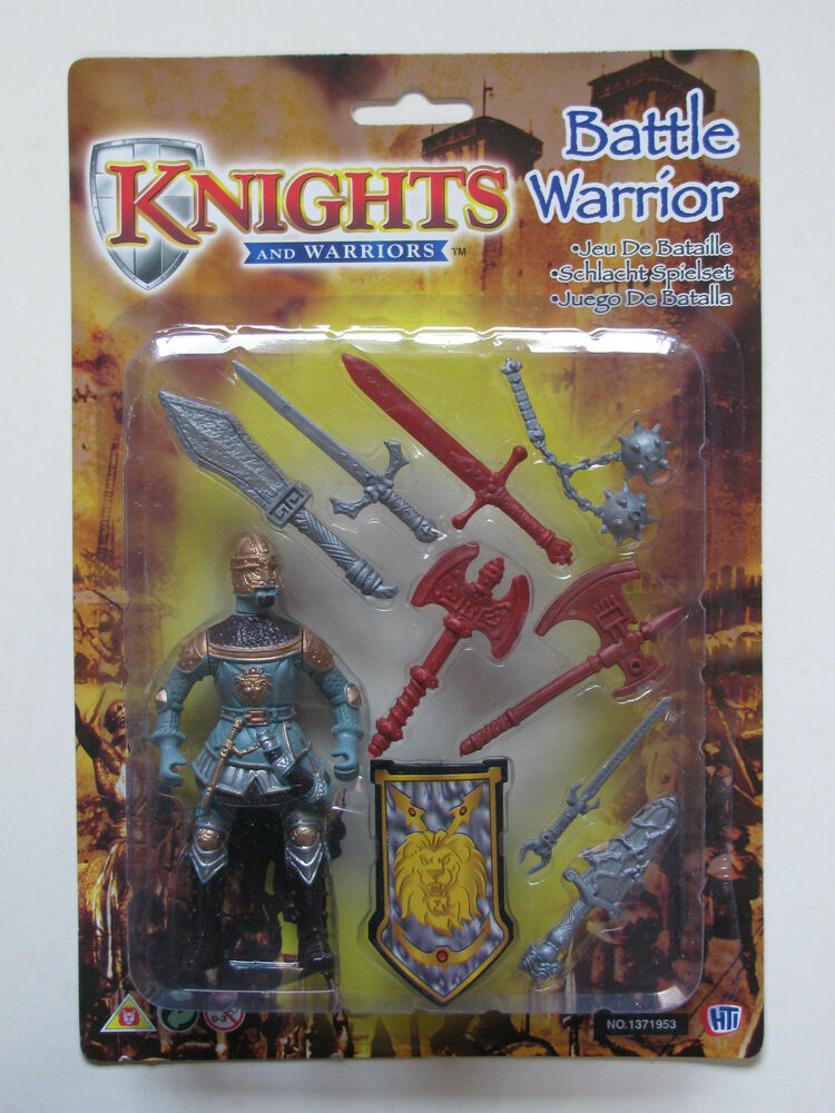 Knights And Warriors Battle Warrior Medieval With Shield Weapons Swords Axe Ebay