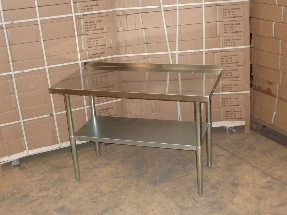 stainless steel work bench table kitchen top 24 x 48