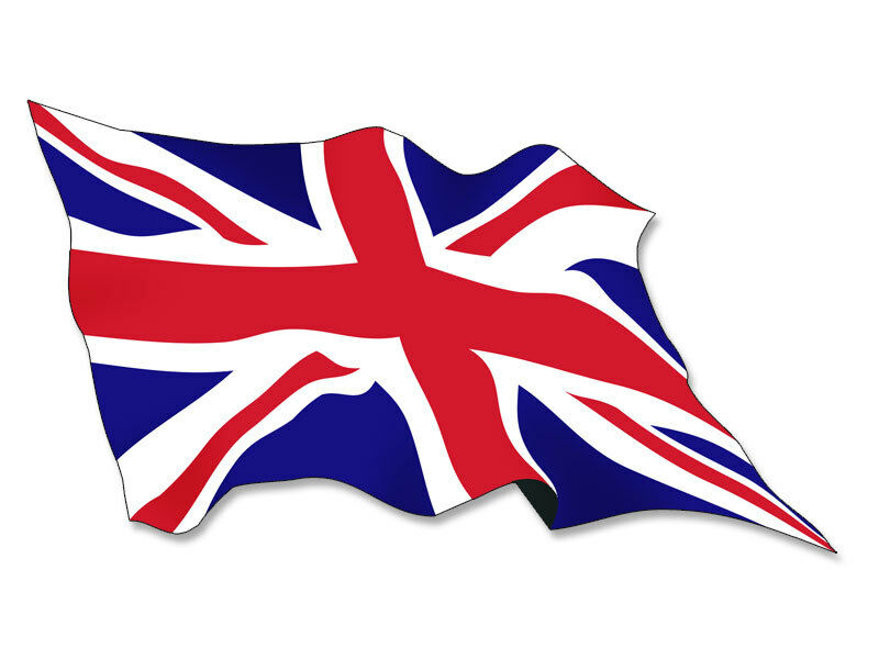 3x5 inch waving union jack flag sticker decal wave for Sessel union jack