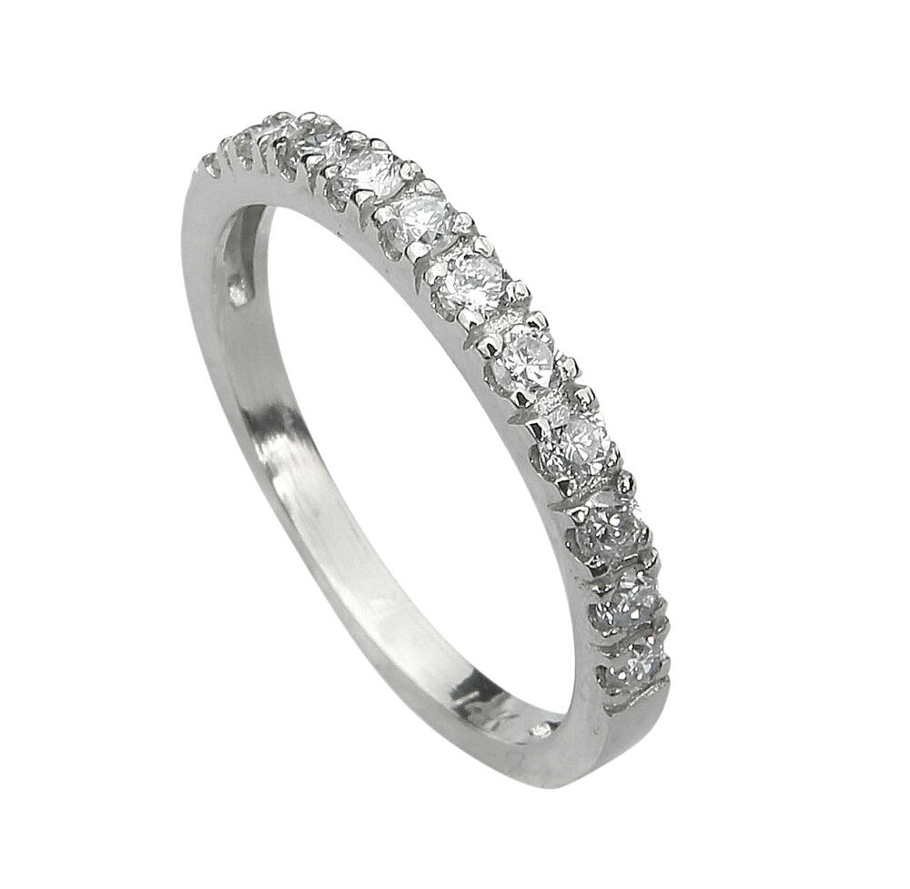 All diamond wedding ring