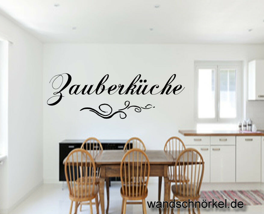 zauberk che wandtattoo k che aufkleber dekoration wandbild zauber kochen wand ebay. Black Bedroom Furniture Sets. Home Design Ideas