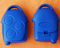 FORD TRANSIT CONNECT 3 BUTTON REMOTE FOB KEY CASE SHELL BLUE
