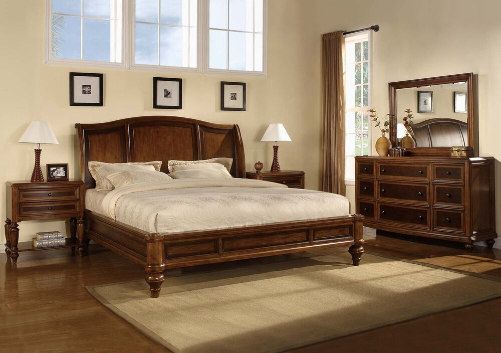 Wynwood Brendon Cherry King Size Sleigh Bed Bedroom