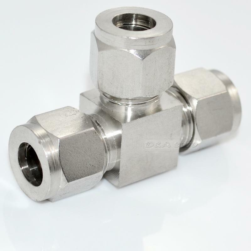 Pcs new tee double ferrule tube fitting connector mm