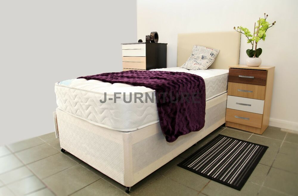 Divan Bed Single Double King Size 22cm Deep Mattress Storage Headboard Ebay