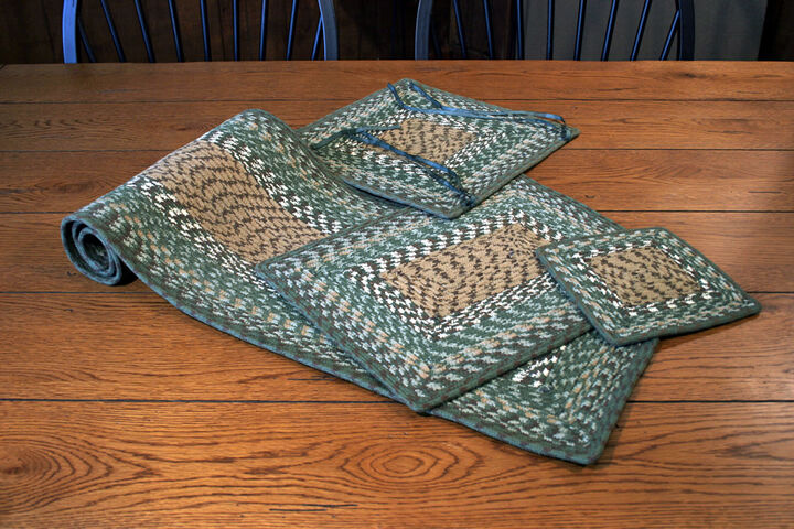 Earth Rug Braided Placemats Table Runners Amp Rugs Dark
