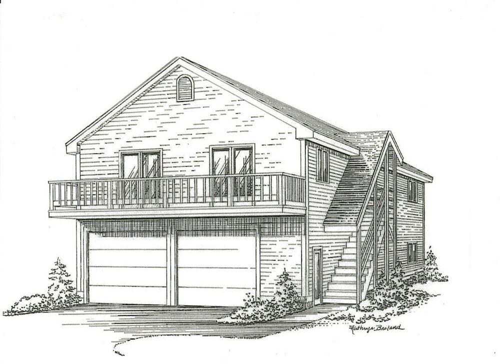 28 X 36 2 Car Garage Building Plans W 2nd Floor Open Loft