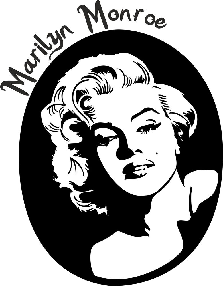 marilyn monroe aufkleber wandtattoo sticker heckscheibe auto spiegel ebay. Black Bedroom Furniture Sets. Home Design Ideas