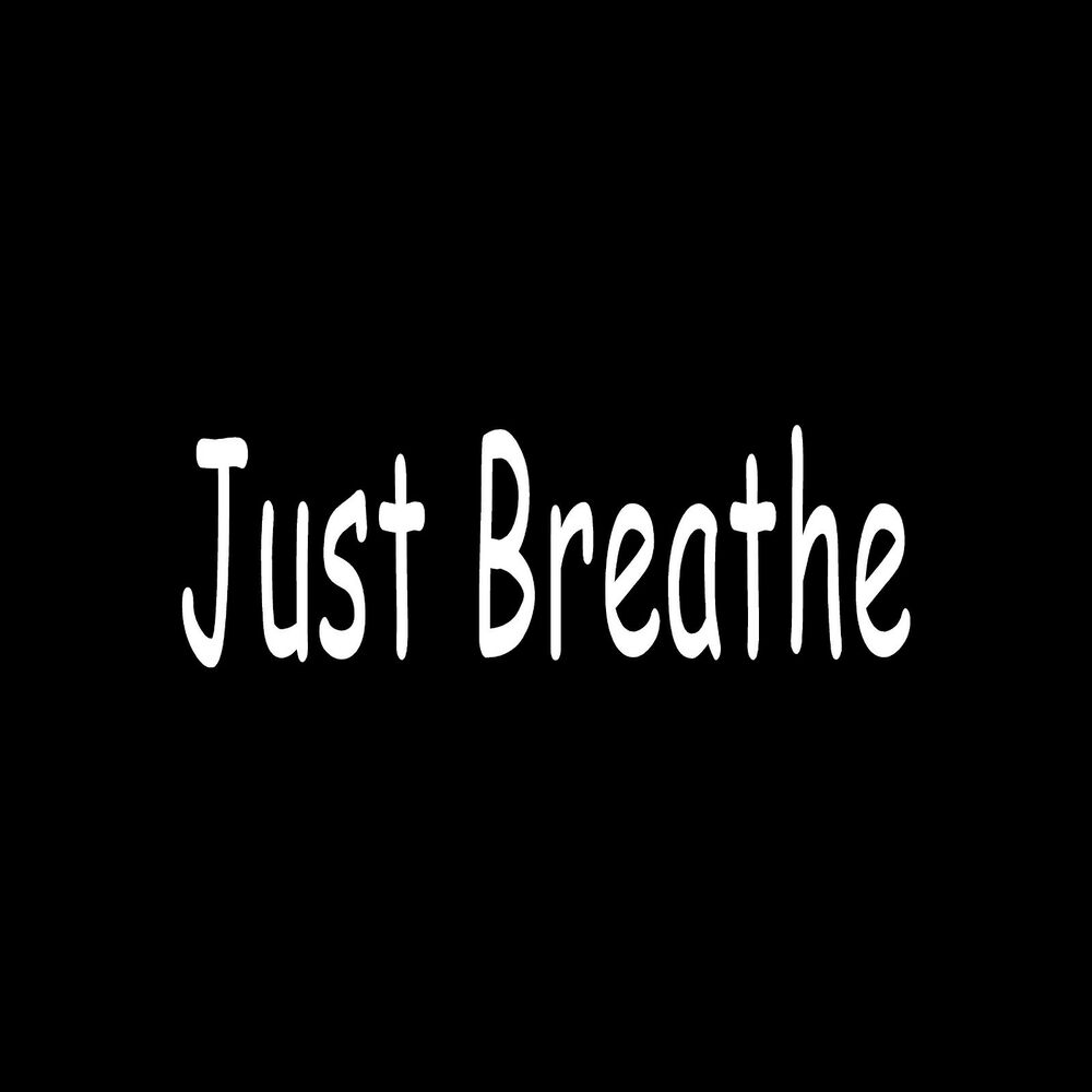 Love Quotes About Life: JUST BREATHE Sticker Car Window Vinyl Decal Inspirational