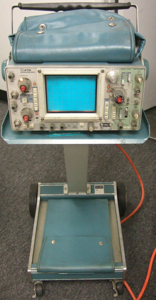 Tektronix Analog Oscilloscope : Tektronix model oscilloscope with scope mobile c
