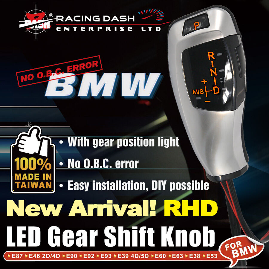 Led Bmw Shift Gear Knob E38 E39 E46 E60 530i E84 E87 E63 Gear Position Light Rhd Ebay